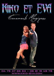 Kiko et Eva Magicien Ardèche